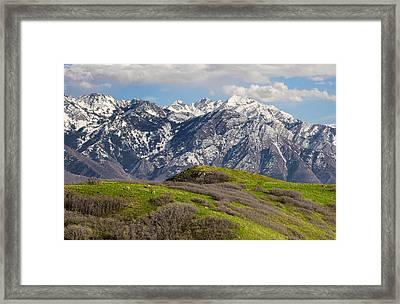 Foothills Above Salt Lake City Framed Print by Utah Images