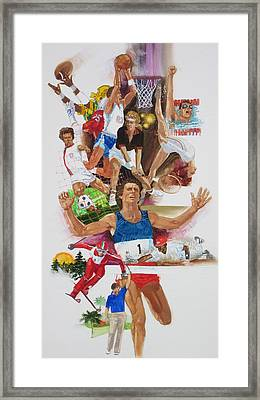 For Love Of The Games Framed Print by Chuck Hamrick