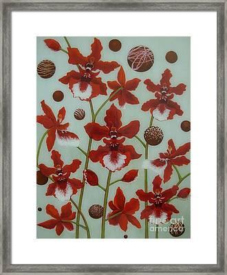 For The Love Of Chocolates Framed Print by Anna Skaradzinska