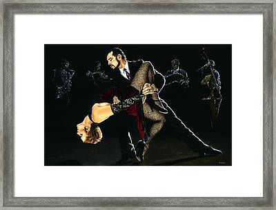 For The Love Of Tango Framed Print by Richard Young