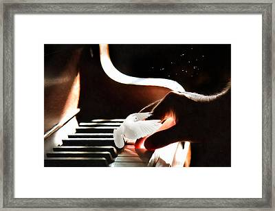 For The Song Of A Dove Framed Print by Georgiana Romanovna