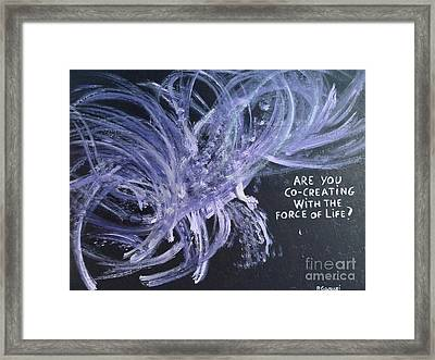 Force Of Life Framed Print by Piercarla Garusi