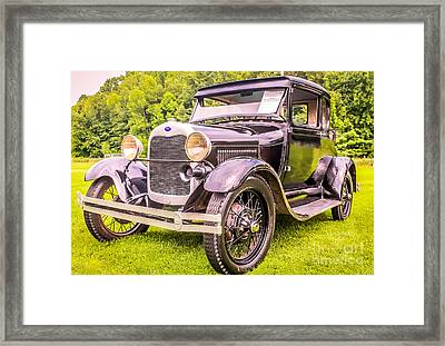 Ford - 1927 Framed Print by Claudia M Photography