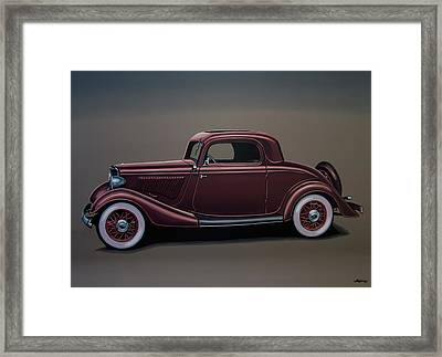 Ford 3 Window Coupe 1933 Painting Framed Print by Paul Meijering