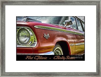 Ford 22 Framed Print by Wendy Wilton