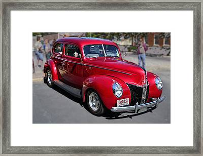 Ford 40 In Red Framed Print by Larry Bishop