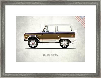 Ford Bronco Ranger 1976 Framed Print by Mark Rogan