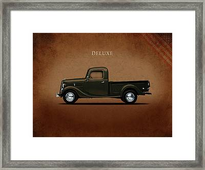 Ford Deluxe Pickup 1937 Framed Print by Mark Rogan