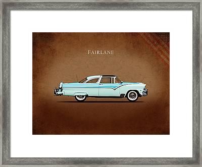 Ford Fairlane 1955 Framed Print by Mark Rogan