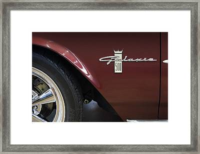 Ford Galaxie 500 Framed Print by Mike McGlothlen