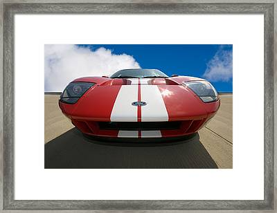 Ford Gt Framed Print by Peter Tellone