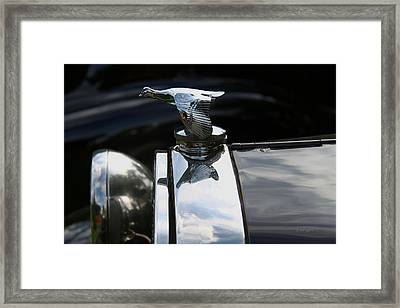 1930 Ford - Hood Ornament Framed Print by Yvonne Wright