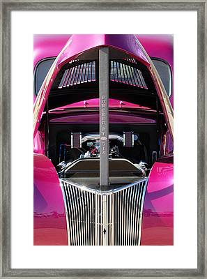 Ford Hot Rod Grille Framed Print by Jill Reger
