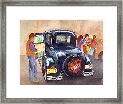 1930 Ford Framed Print by Judy Hopkins