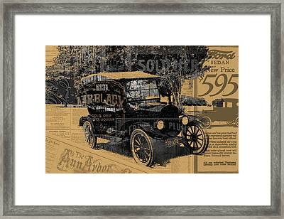 Ford Model T Made Using Found Objects Framed Print by Design Turnpike