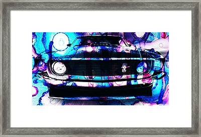 Ford Mustang 1969 Framed Print by Sir Josef Social Critic - ART