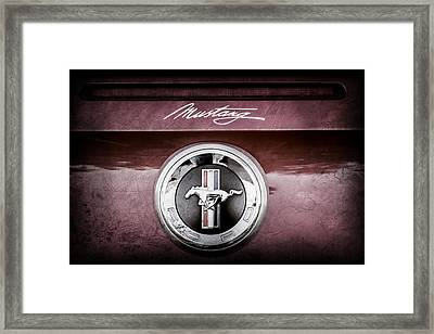 Ford Mustang Gas Cap Emblem -0002ac Framed Print by Jill Reger