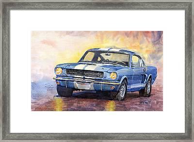 Ford Mustang Gt 350 1966 Framed Print by Yuriy Shevchuk