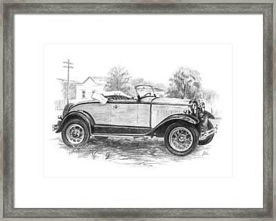 Ford Roadster Framed Print by Joe Winkler
