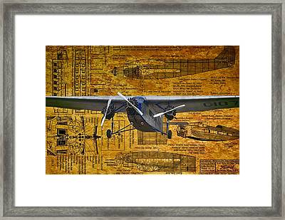 Ford Trimotor 2 Framed Print by Todd and candice Dailey