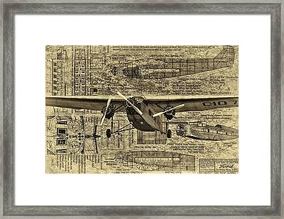 Ford Trimotor 3 Framed Print by Todd and candice Dailey
