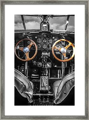 Ford Trimotor Cockpit Framed Print by Chris Smith