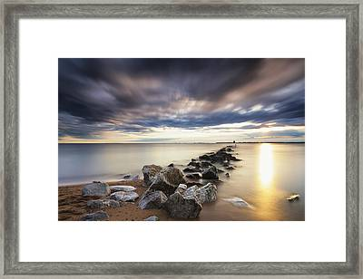 Forecast Calls For Cloudy Skies Framed Print by Edward Kreis