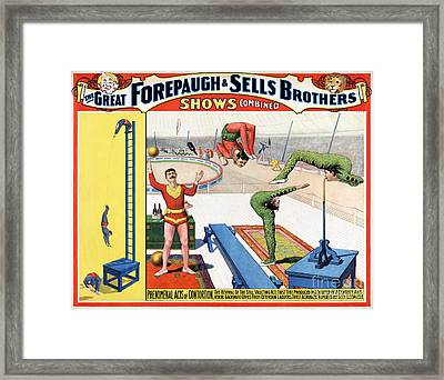 Forepaugh And Sells Brothers Vintage Circus Poster Framed Print by Carsten Reisinger