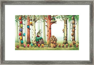 Forest Eggs Framed Print by Kestutis Kasparavicius