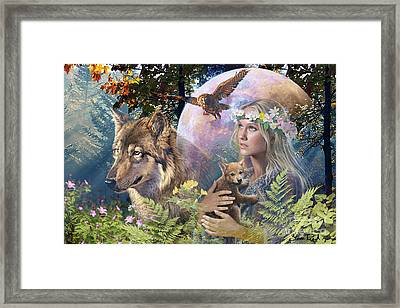 Forest Friends 2 Framed Print by Steve Read