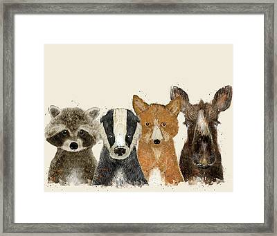 Forest Friends Framed Print by Bri B