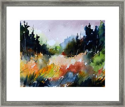 Forest Meadow Framed Print by Wilfred McOstrich