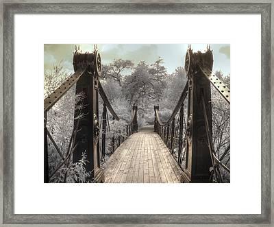 Forest Park Victorian Bridge Saint Louis Missouri Infrared Framed Print by Jane Linders