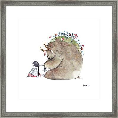 Forest Spirit Framed Print by Soosh