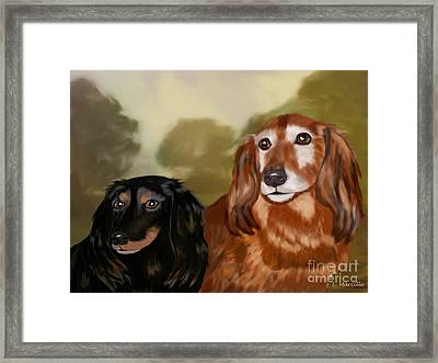 Forever Friends Framed Print by Linda Marcille