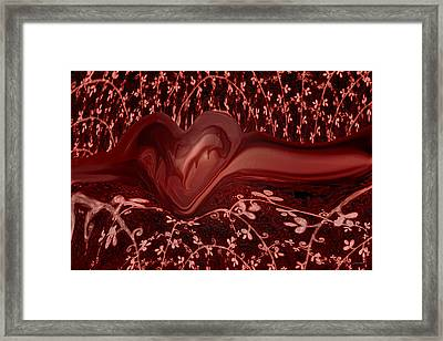 Forever Love Framed Print by Linda Sannuti