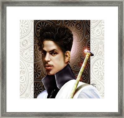 Forevermore The Young Prince Of Paisley 1a Framed Print by Reggie Duffie