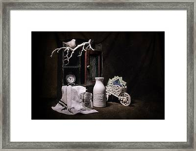 Forget Me Not Still Life Framed Print by Tom Mc Nemar