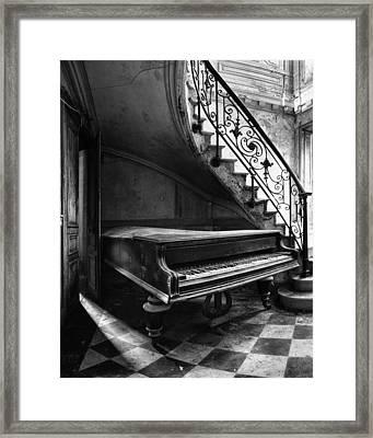 Forgotten Ancient Piano - Urban Decay Framed Print by Dirk Ercken