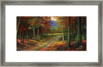 Forgotten Road Framed Print by Frank Wilson