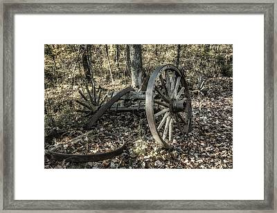 Forgotten Wagon Framed Print by Tom Mc Nemar