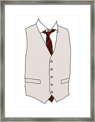 Mens Apparel Framed Print by Priscilla Wolfe