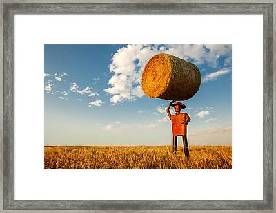 Formidable Farmer Framed Print by Todd Klassy