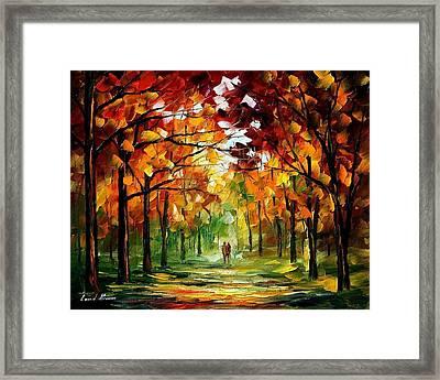 Forrest Of Dreams Framed Print by Leonid Afremov