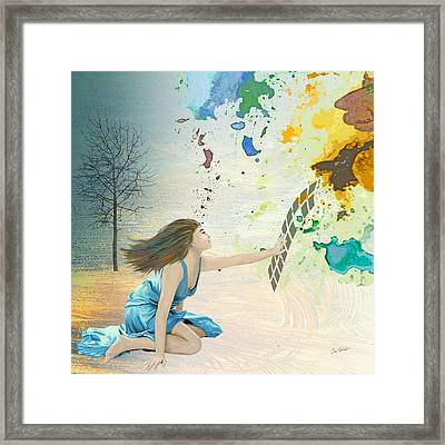 Forsaking The Real Framed Print by Van Renselar