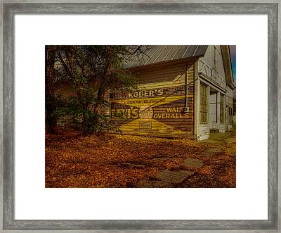 Fort Bidwell Store Framed Print by Michele James