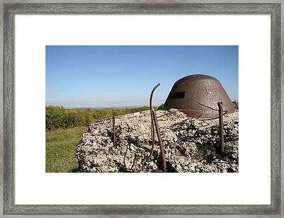 Framed Print featuring the photograph Fort De Douaumont - Verdun by Travel Pics