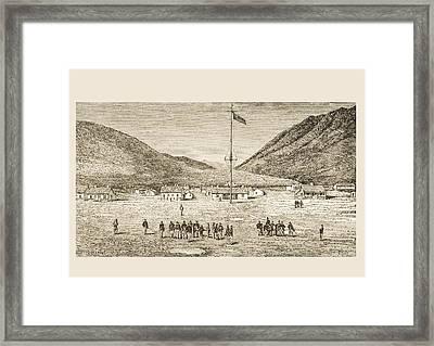 Fort Douglas Camp And Red Buttes Ravine Framed Print by Vintage Design Pics