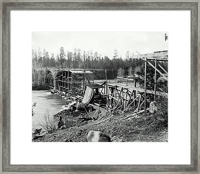 Fort George Wright Bridge - Spokane 1927 Framed Print by Daniel Hagerman