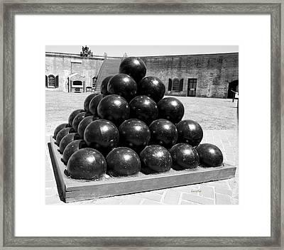 Fort Macon Cannonball Framed Print by Betsy Knapp